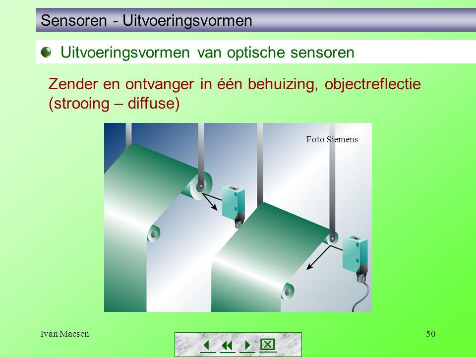 Ivan Maesen50 Sensoren - Uitvoeringsvormen        Zender en ontvanger in één behuizing, objectreflectie (strooing – diffuse) Foto Siemens Uitv