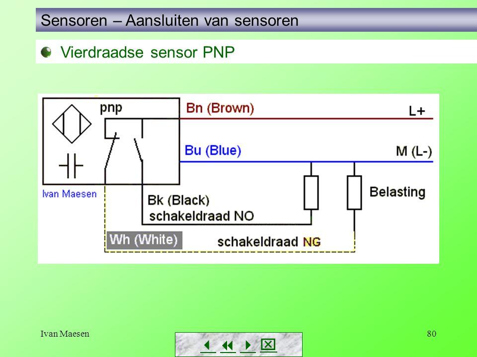 Ivan Maesen80 Vierdraadse sensor PNP Sensoren – Aansluiten van sensoren       