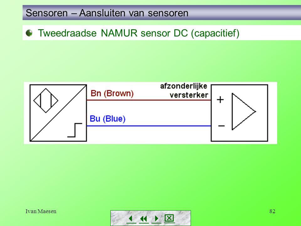 Ivan Maesen82 Tweedraadse NAMUR sensor DC (capacitief) Sensoren – Aansluiten van sensoren       