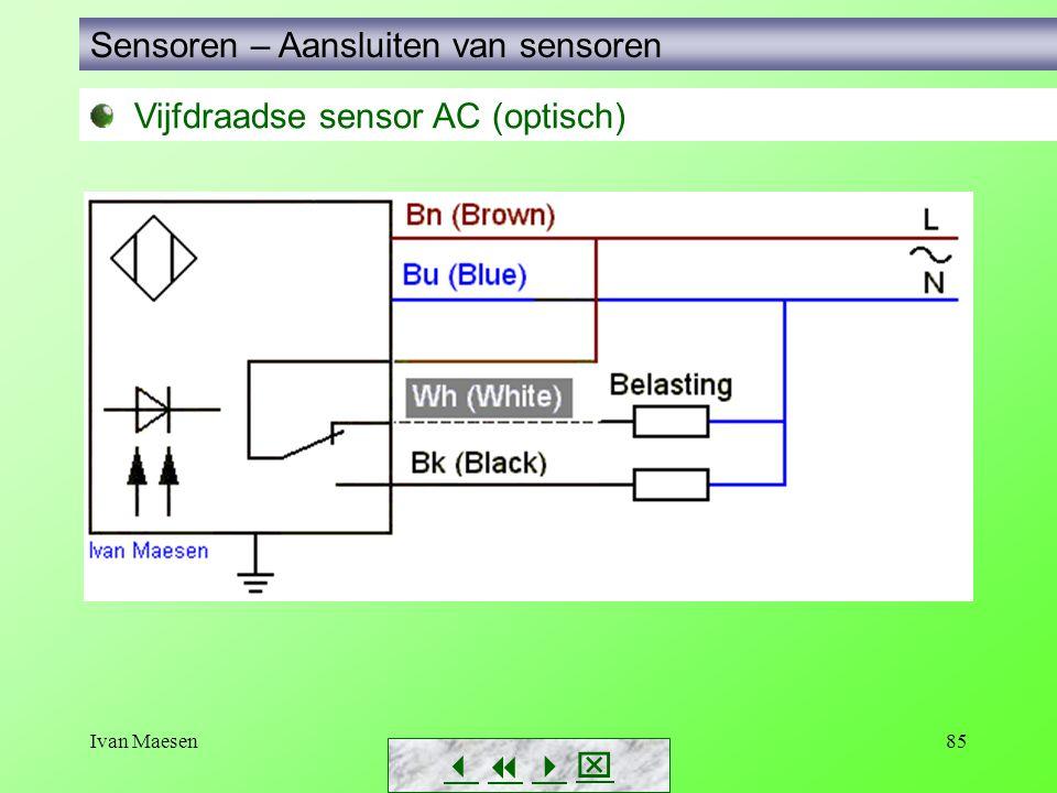 Ivan Maesen85 Vijfdraadse sensor AC (optisch) Sensoren – Aansluiten van sensoren       