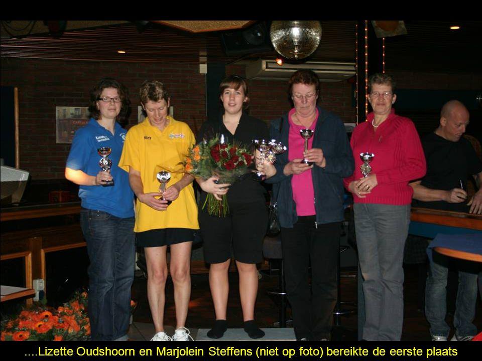 ....Lizette Oudshoorn en Marjolein Steffens (niet op foto) bereikte de eerste plaats