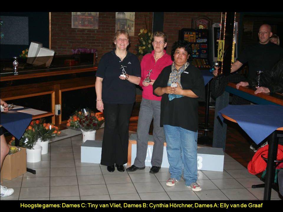 Hoogste games: Dames C: Tiny van Vliet, Dames B: Cynthia Hörchner, Dames A: Elly van de Graaf