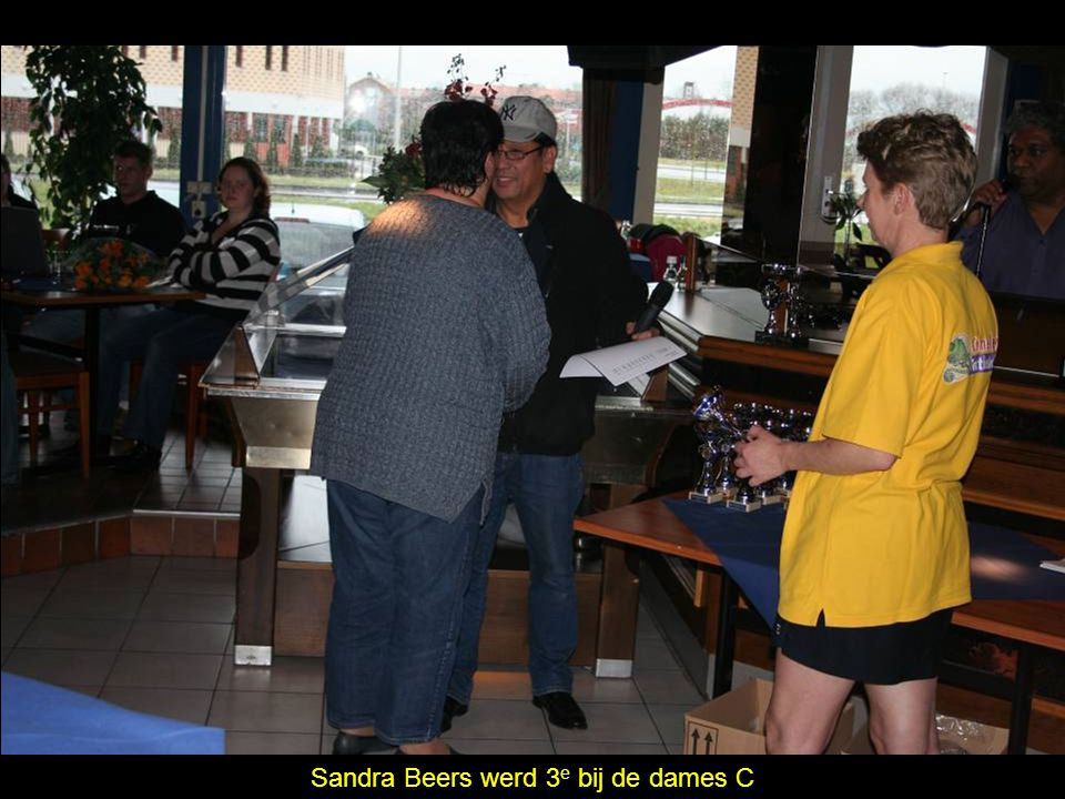 Sandra Beers werd 3 e bij de dames C