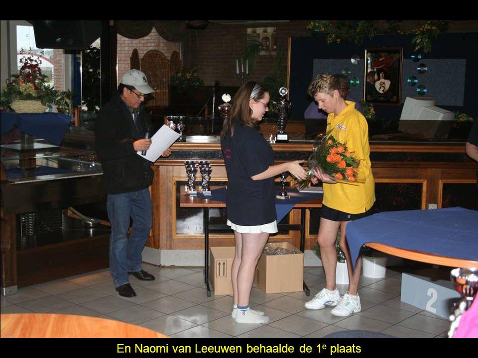 En Naomi van Leeuwen behaalde de 1 e plaats