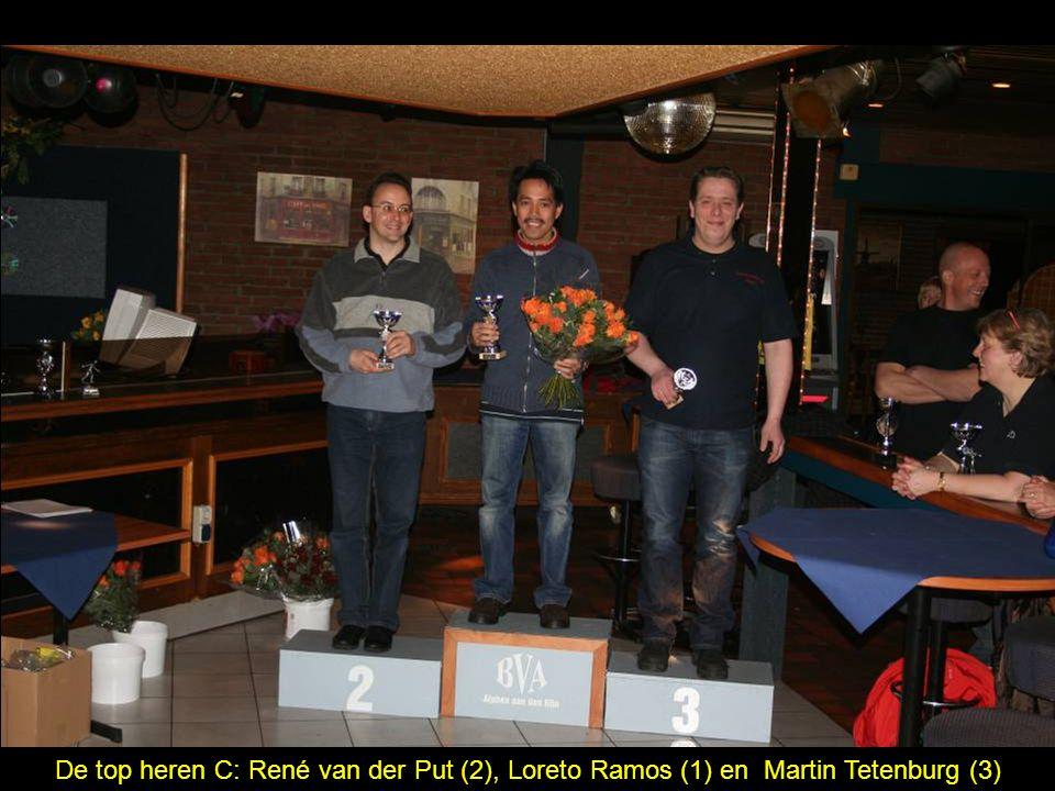 De top heren C: René van der Put (2), Loreto Ramos (1) en Martin Tetenburg (3)