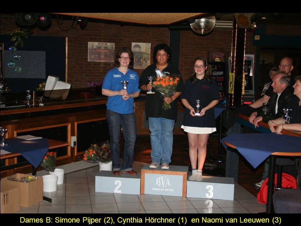 Dames B: Simone Pijper (2), Cynthia Hörchner (1) en Naomi van Leeuwen (3)