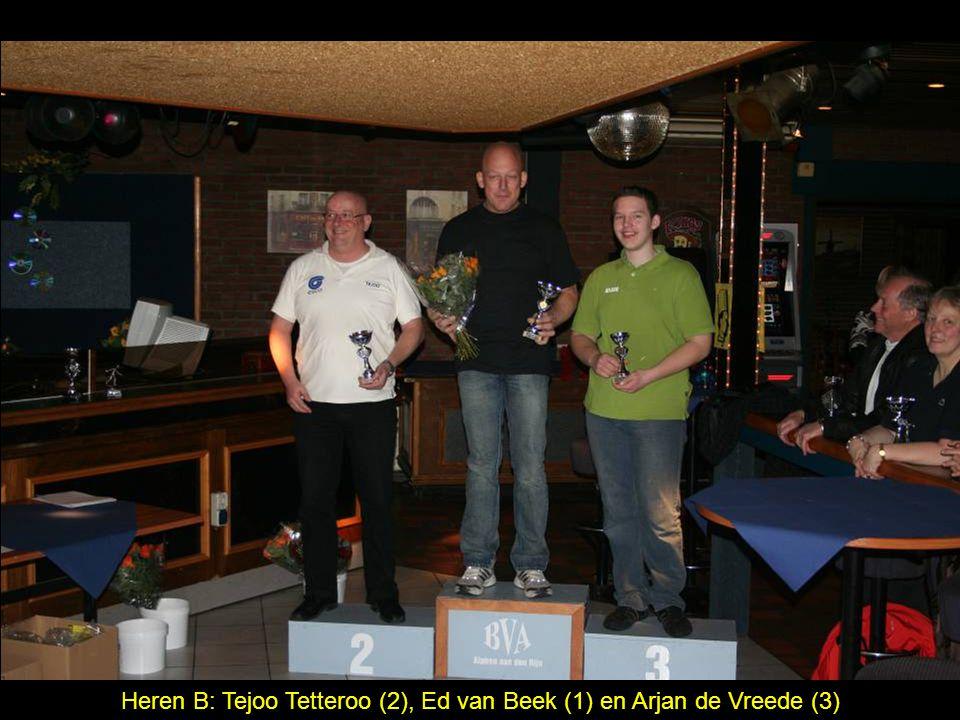 Heren B: Tejoo Tetteroo (2), Ed van Beek (1) en Arjan de Vreede (3)