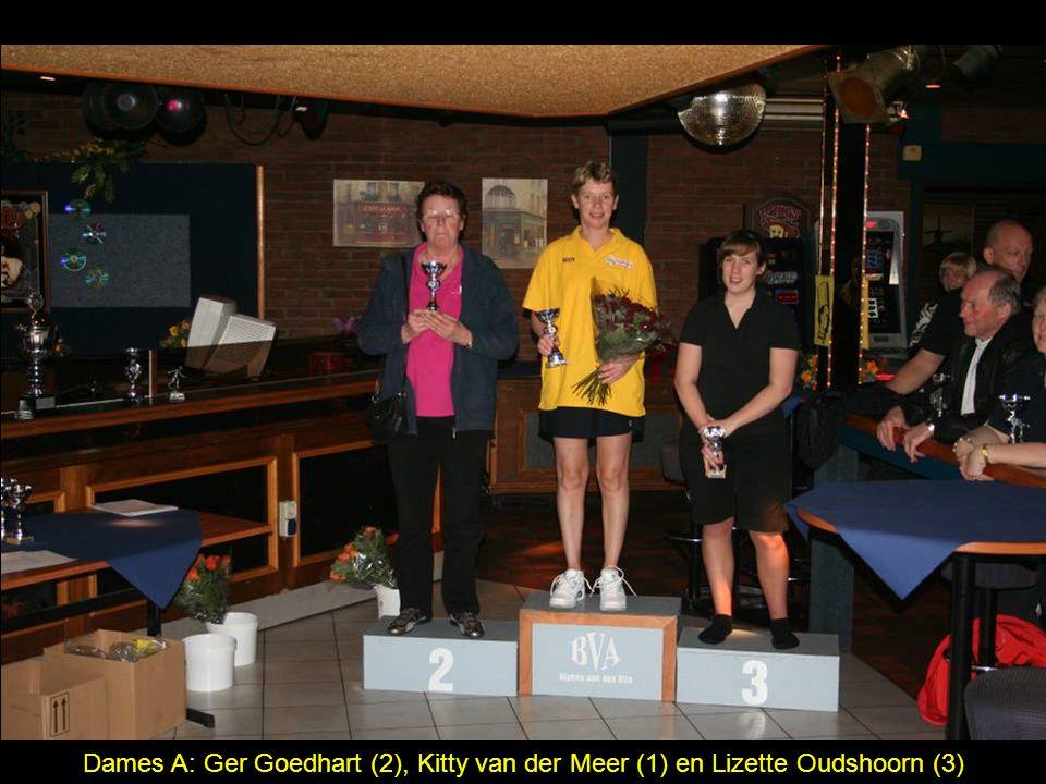 Dames A: Ger Goedhart (2), Kitty van der Meer (1) en Lizette Oudshoorn (3)