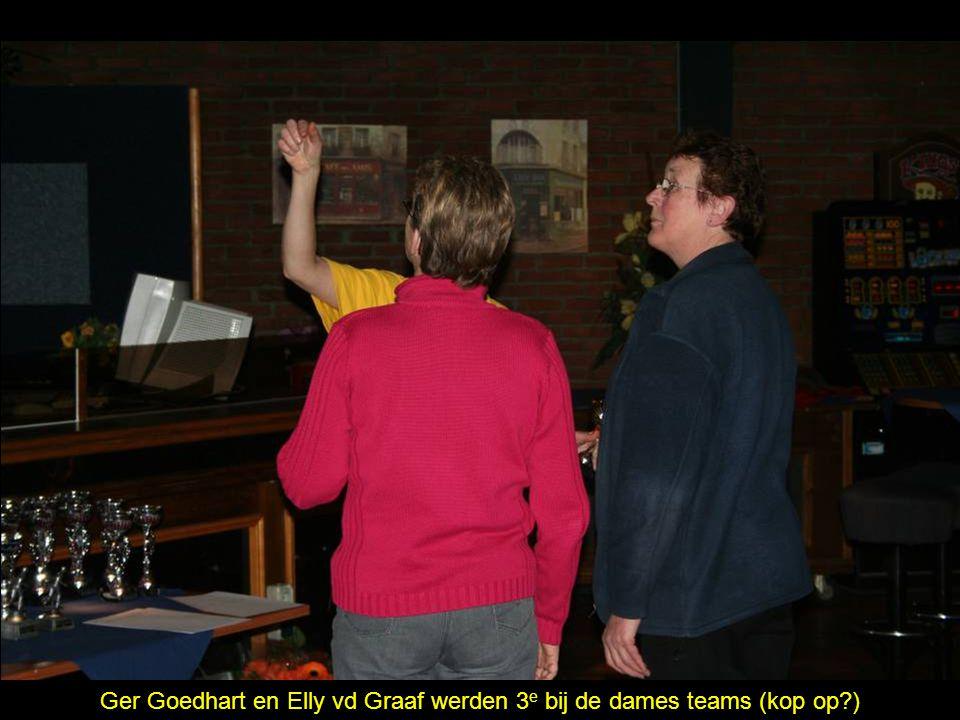 Ger Goedhart en Elly vd Graaf werden 3 e bij de dames teams (kop op )