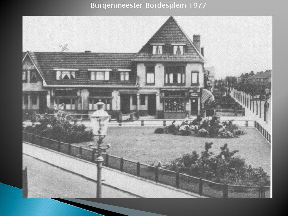 Burgenmeester Bordesplein 1977