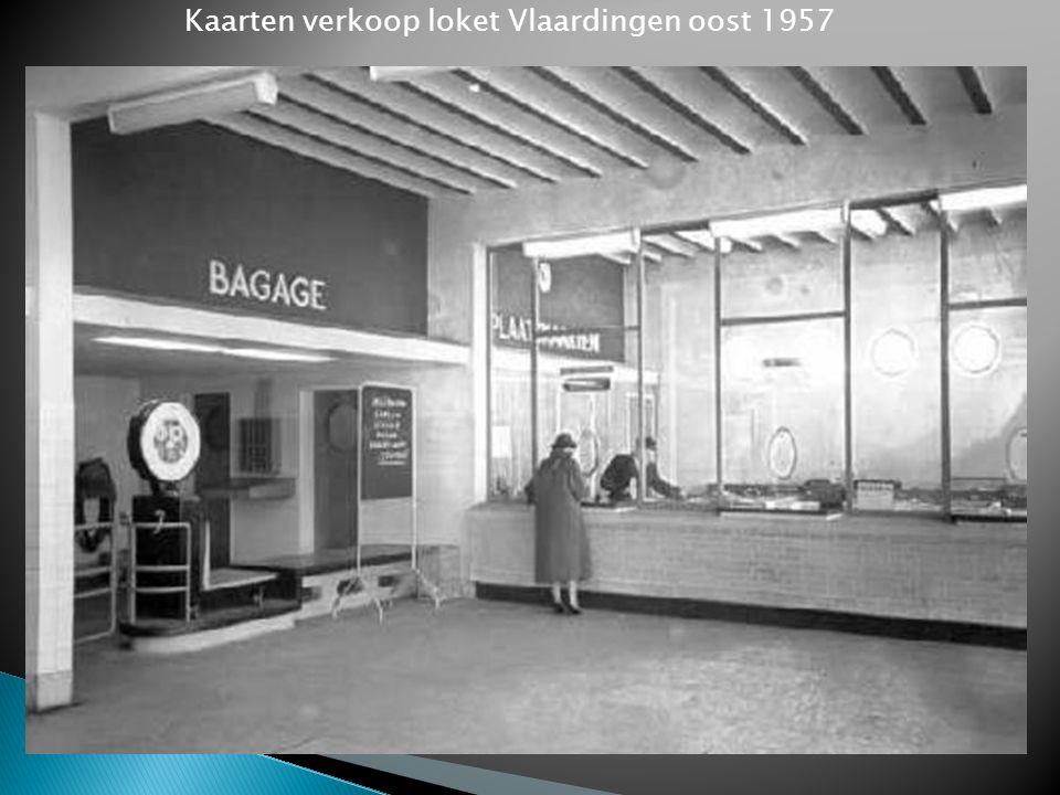 Kaarten verkoop loket Vlaardingen oost 1957