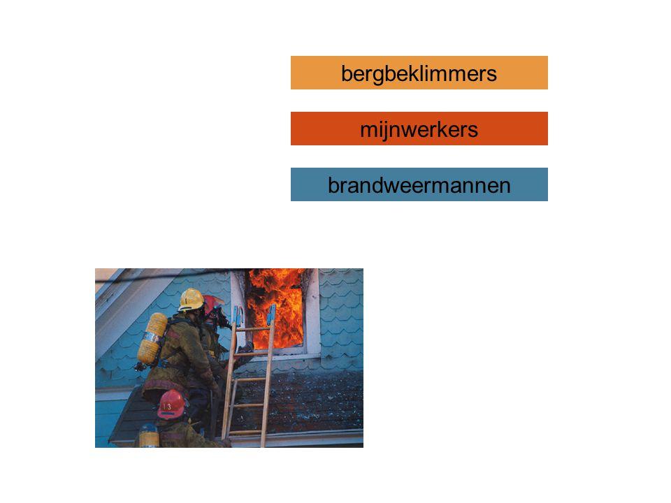 brandweermannen mijnwerkers bergbeklimmers