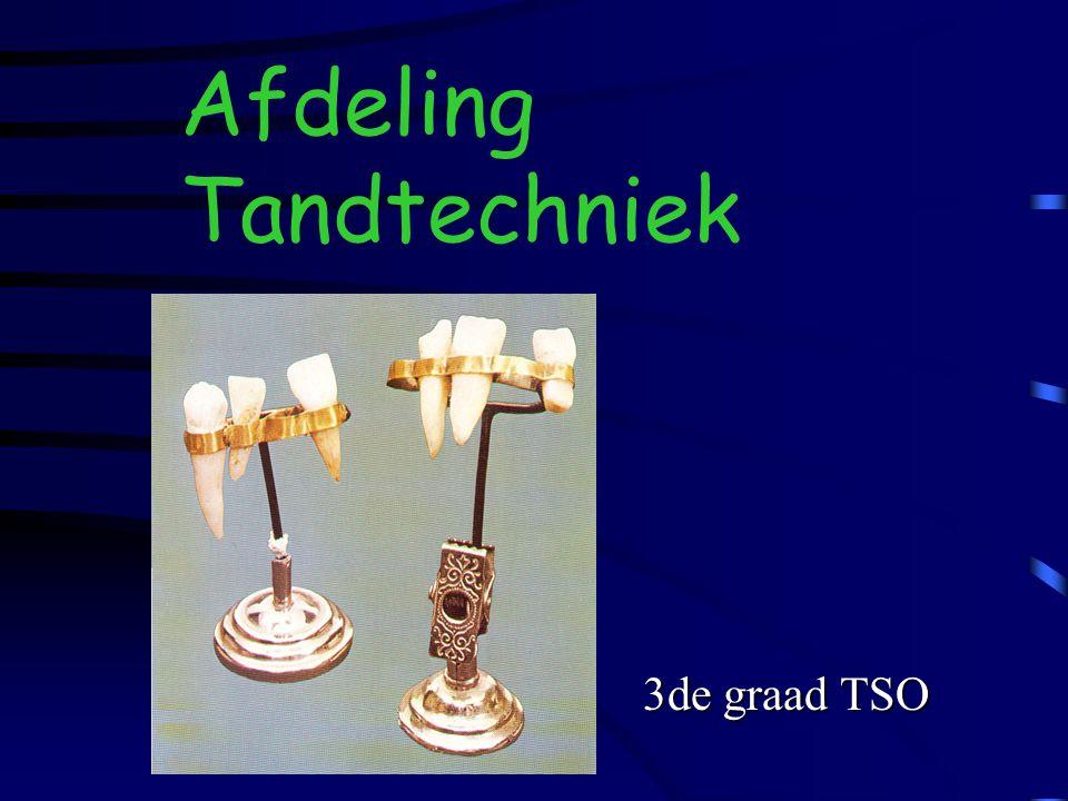 Afdeling Tandtechniek en 3de graad TSO