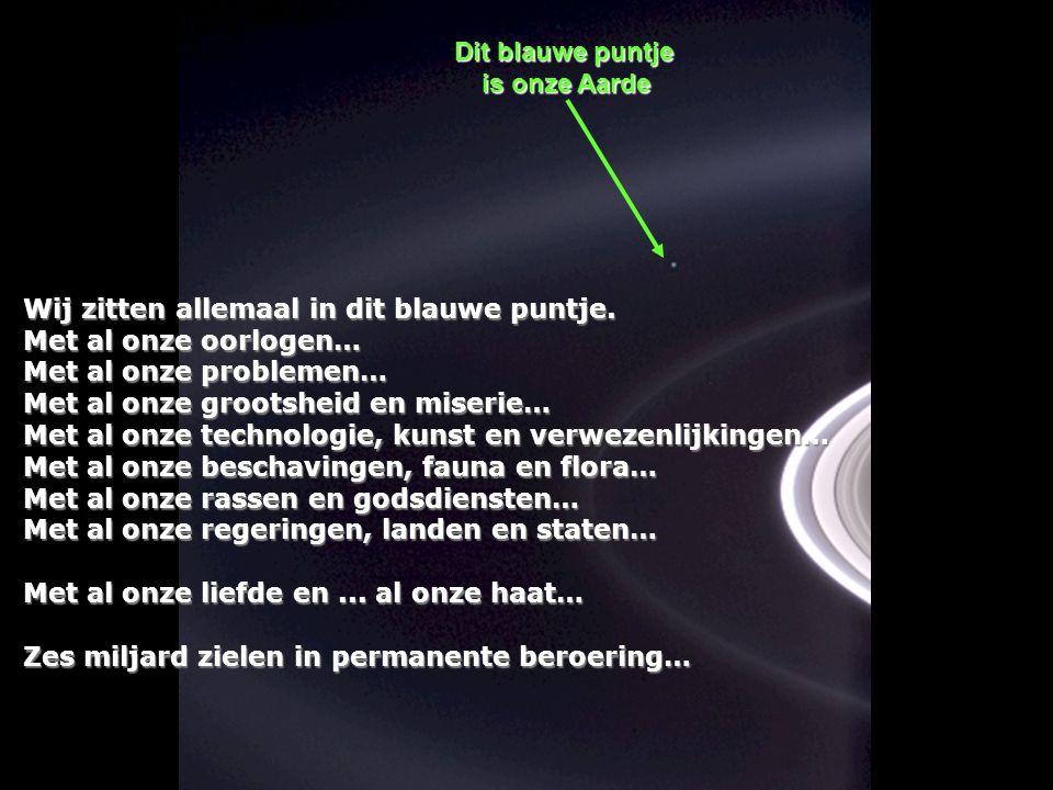 Denk even na over deze foto. Ze werd in 2004 genomen door Cassini-Huygens, een automatisch ruimtetuig, toen het de ringen van Saturnus bereikte.