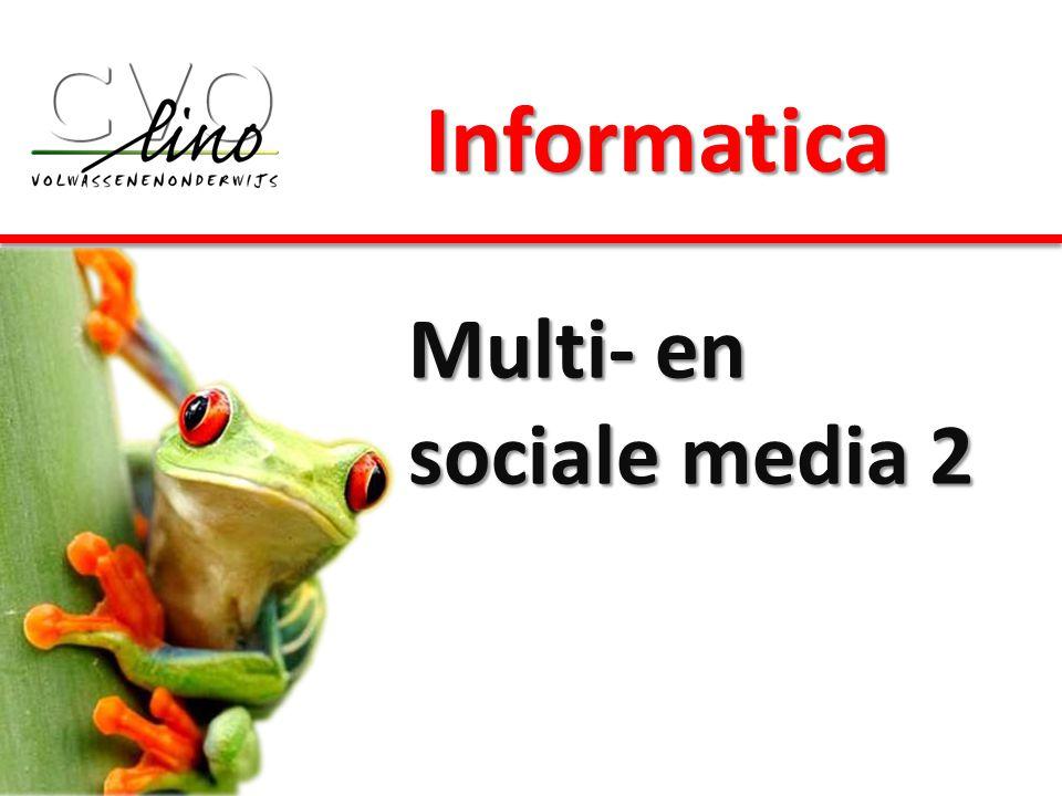 Informatica Multi- en sociale media 2