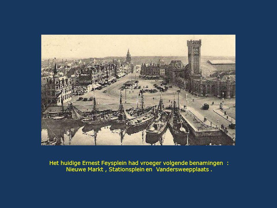 In 1844 werd het station van Oostende tussen de wijk en de dokken ingeplant.