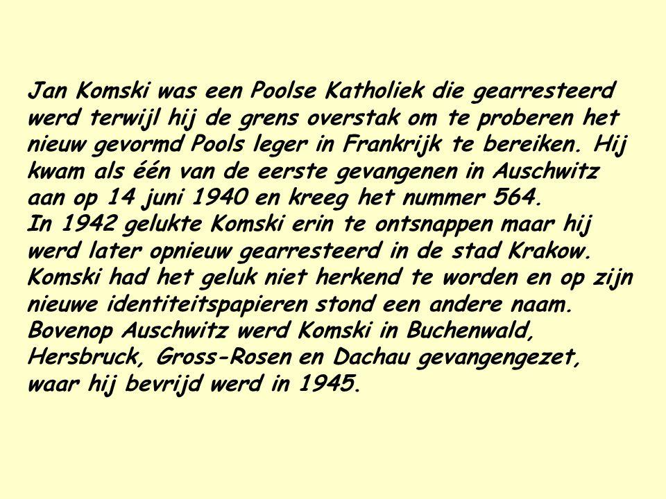 Illustraties over het leven in concentratiekampen door Jan Komski, een overlevende van Auschwitz. Deze artistieke werken verschaffen ons documentatie