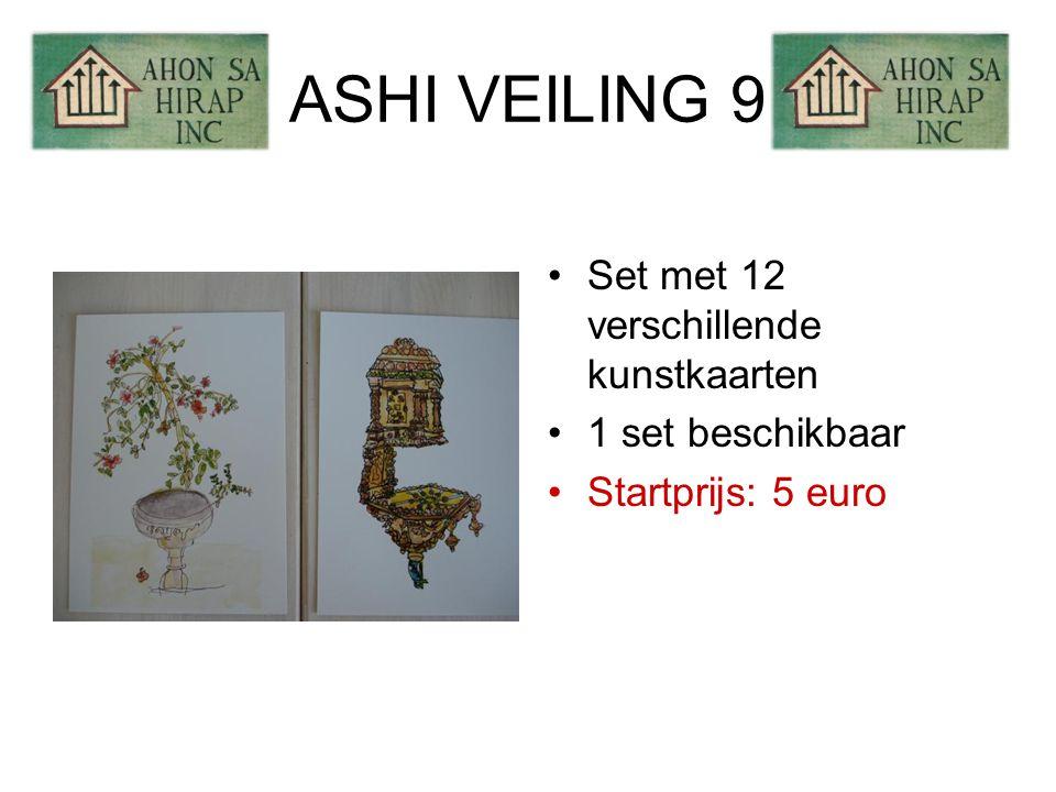 ASHI VEILING 9 •Set met 12 verschillende kunstkaarten •1 set beschikbaar •Startprijs: 5 euro
