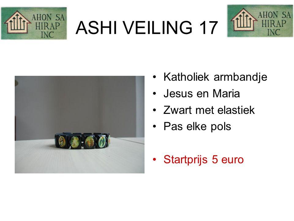 ASHI VEILING 17 •Katholiek armbandje •Jesus en Maria •Zwart met elastiek •Pas elke pols •Startprijs 5 euro