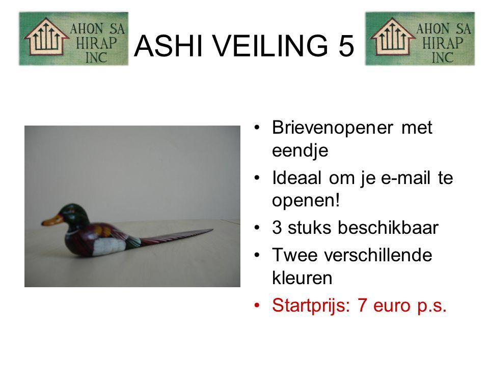 ASHI VEILING 5 •Brievenopener met eendje •Ideaal om je e-mail te openen.