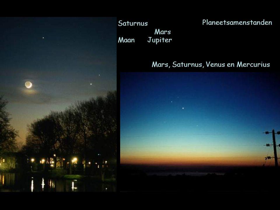 Planeetsamenstanden Mars, Saturnus, Venus en Mercurius Saturnus Mars Maan Jupiter