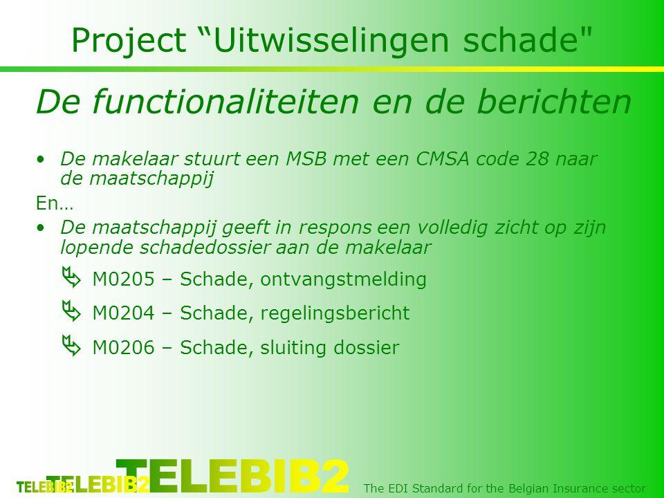 "The EDI Standard for the Belgian Insurance sector Project ""Uitwisselingen schade"