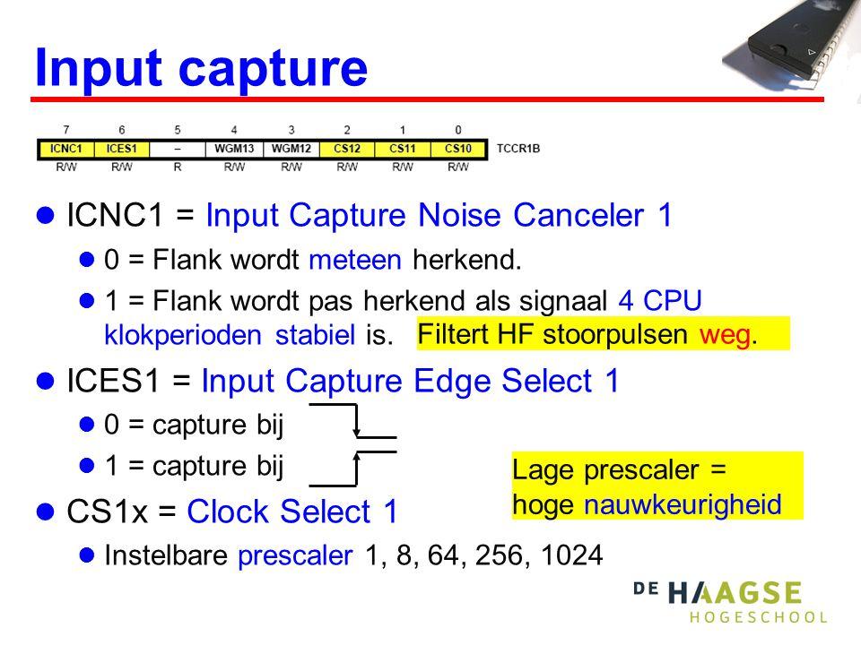 Meten van pulsduur  Toepassing:  Zend ultrasoon puls en ontvang reflectie  verschil = maat voor afstand.