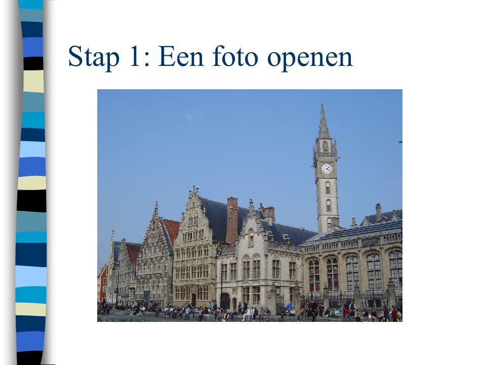 Stap 1: Een foto openen