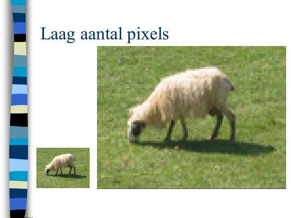 Laag aantal pixels
