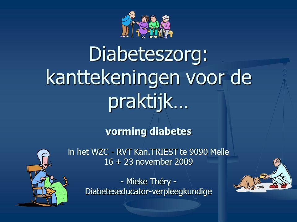 16/11/2009 - 23/11/2009Mieke Théry32 3. Insuline… alles op een rijtje…