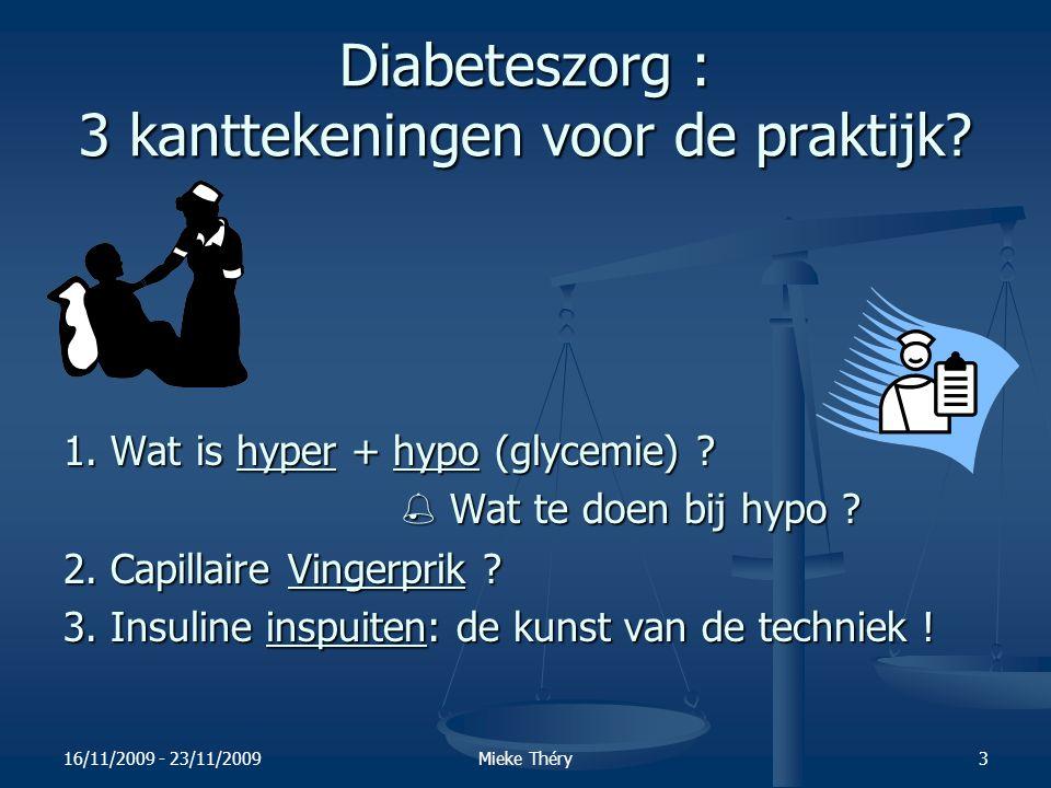 16/11/2009 - 23/11/2009Mieke Théry54 3.5. Waarom insuline inspuiten en deze niet inhaleren ?