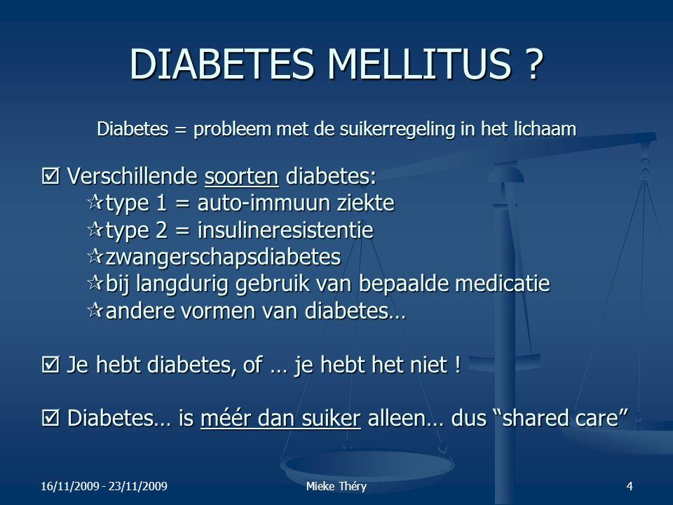 16/11/2009 - 23/11/2009Mieke Théry35 3.2.WAT is insuline.