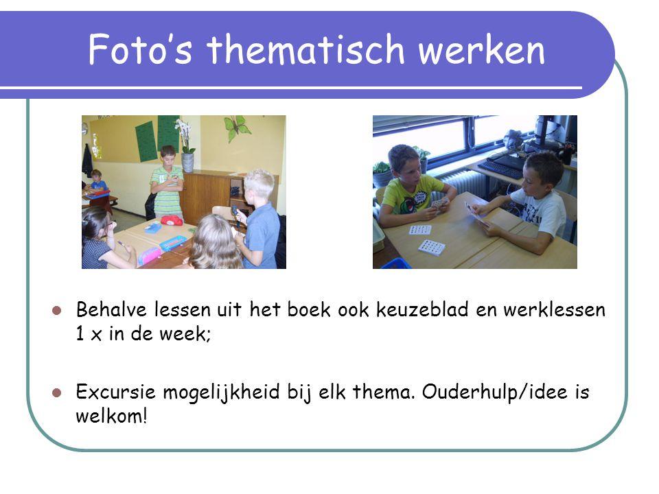 Toetsen alles-in-1  Samenvatting gaat mee naar huis in een klapper;  Een week thuis de tijd om te leren voor de toets;  Op school de toets maken met een punt als beoordeling.