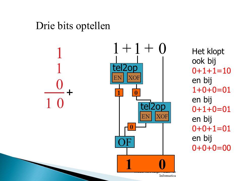 SondervickCollege Veldhoven Informatica De schakeling van de vorige dia's stellen we hier voor door: tel3op