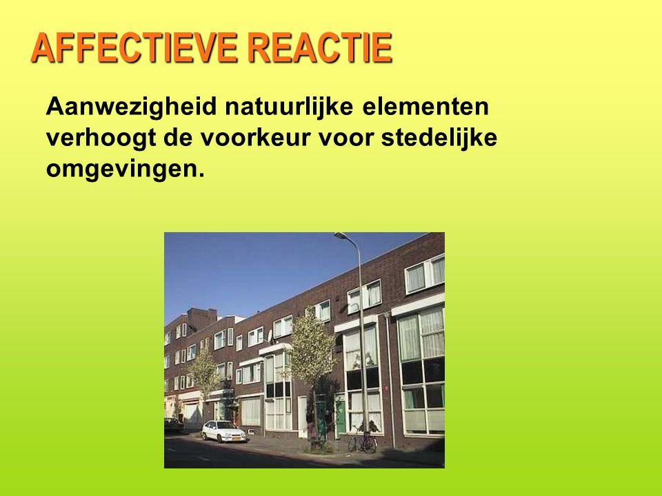 Aanwezigheid natuurlijke elementen verhoogt de voorkeur voor stedelijke omgevingen.