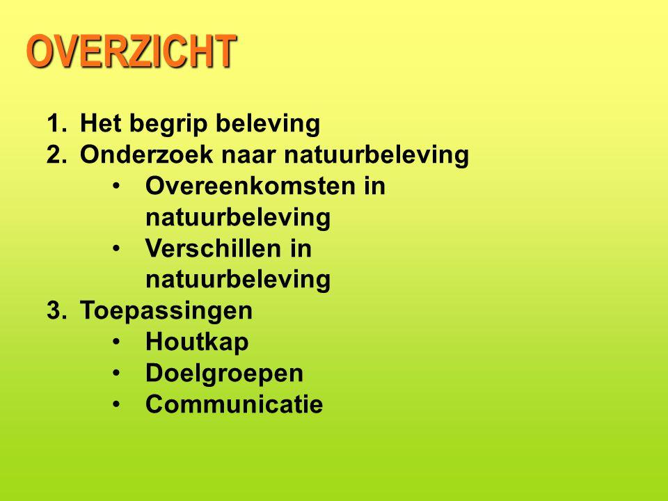 •In 2001/2002 ondernamen alle Nederlanders gezamenlijk 55 miljoen wandelingen > 2 uur 87% in de natuur DIRECT GEDRAG