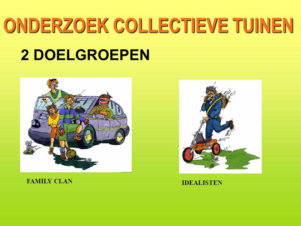 ONDERZOEK COLLECTIEVE TUINEN FAMILY CLAN IDEALISTEN 2 DOELGROEPEN