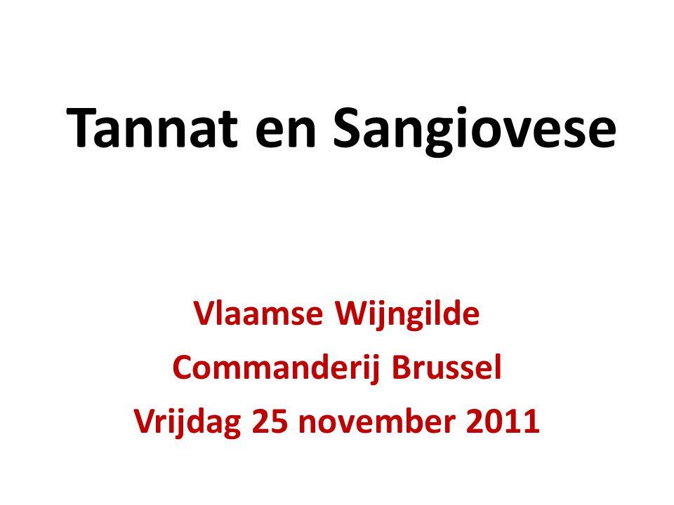 Tannat en Sangiovese Vlaamse Wijngilde Commanderij Brussel Vrijdag 25 november 2011