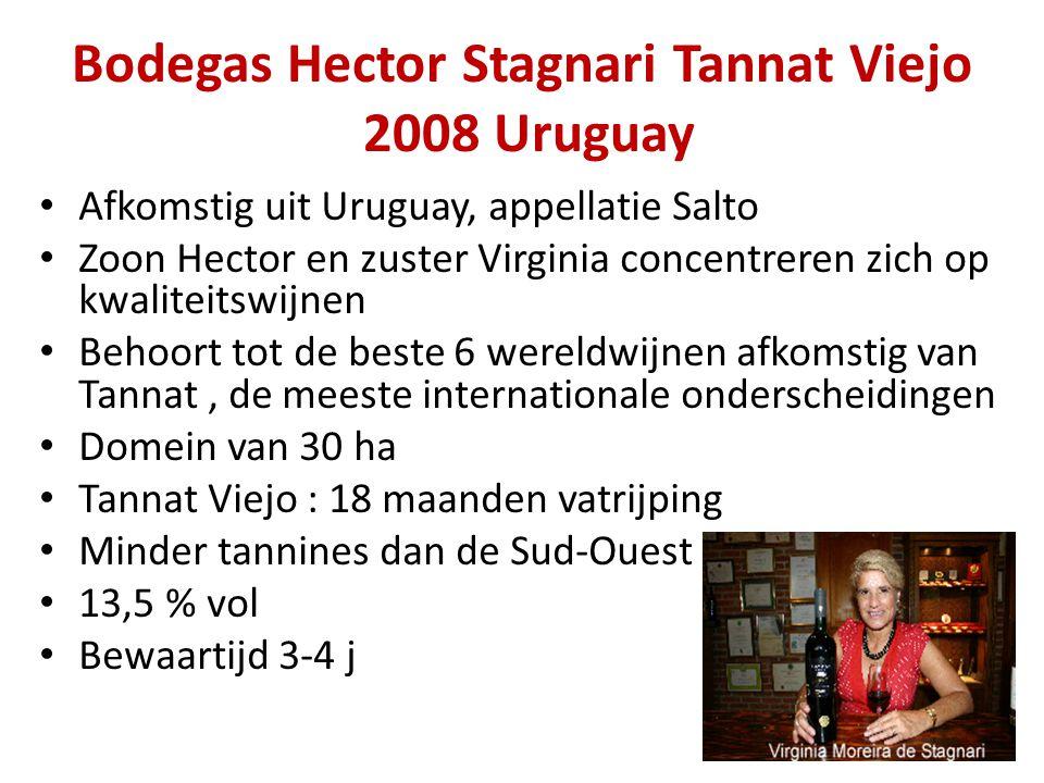 Bodegas Hector Stagnari Tannat Viejo 2008 Uruguay • Afkomstig uit Uruguay, appellatie Salto • Zoon Hector en zuster Virginia concentreren zich op kwal