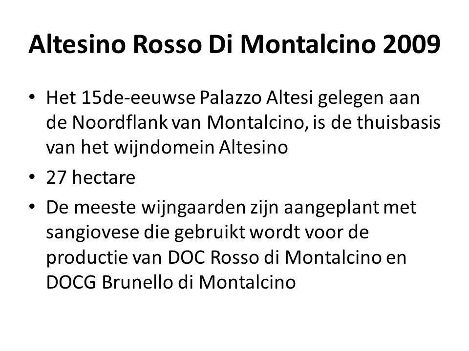 Altesino Rosso Di Montalcino 2009 • Het 15de-eeuwse Palazzo Altesi gelegen aan de Noordflank van Montalcino, is de thuisbasis van het wijndomein Altes