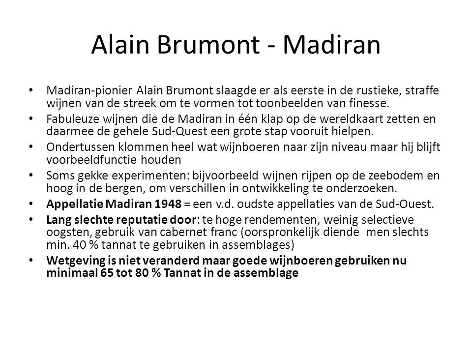 Alain Brumont - Madiran • Madiran-pionier Alain Brumont slaagde er als eerste in de rustieke, straffe wijnen van de streek om te vormen tot toonbeelde