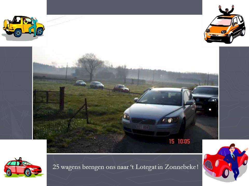 25 wagens brengen ons naar 't Lotegat in Zonnebeke !