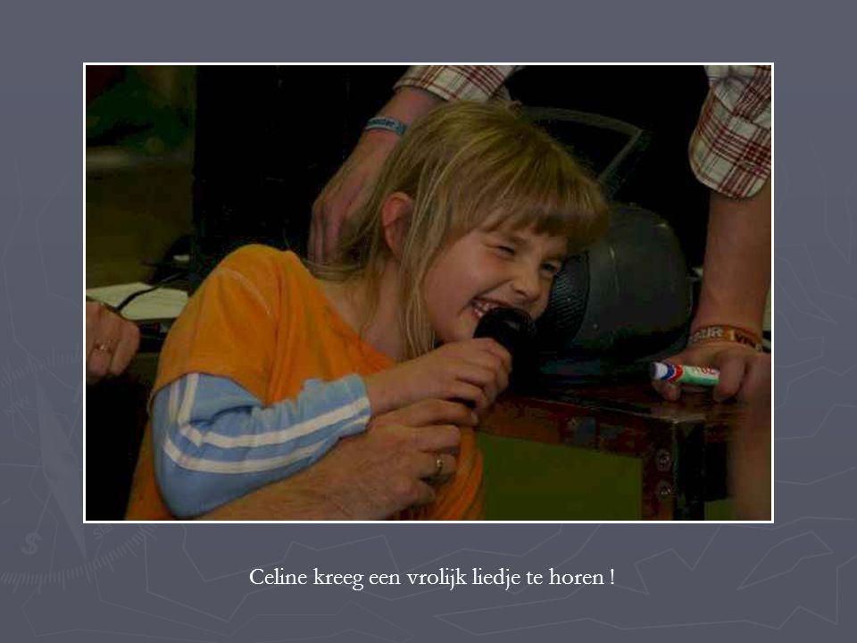 Celine kreeg een vrolijk liedje te horen !