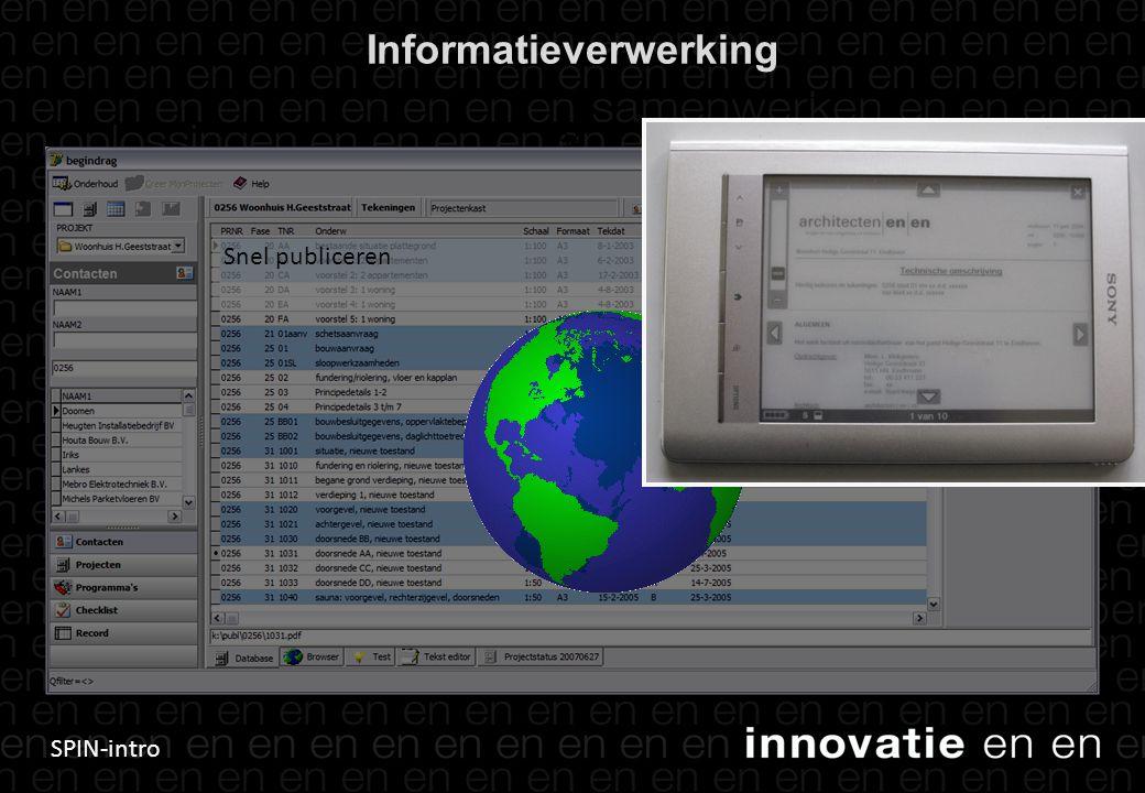 SPIN-intro Informatieverwerking 34 Snel publiceren