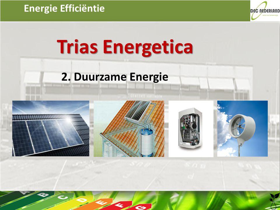 Energie Efficiëntie Trias Energetica 2. Duurzame Energie