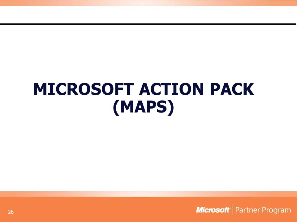 26 MICROSOFT ACTION PACK (MAPS)