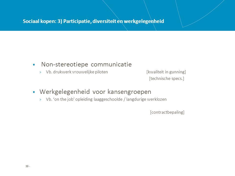 39 - Sociaal kopen: 3) Participatie, diversiteit en werkgelegenheid • Non-stereotiepe communicatie > Vb.