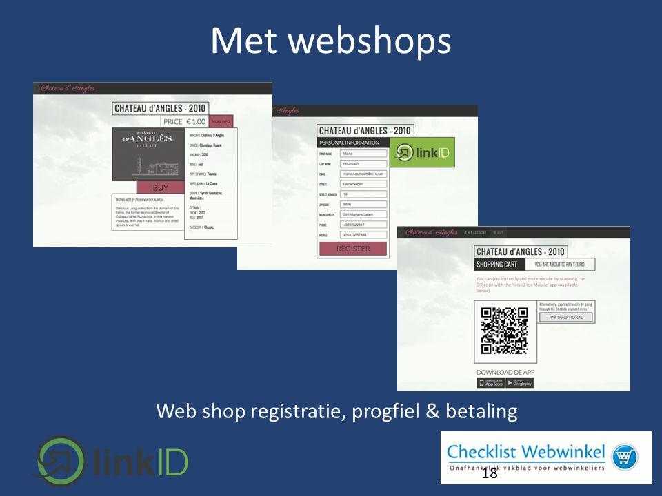 18 Web shop registratie, progfiel & betaling Met webshops