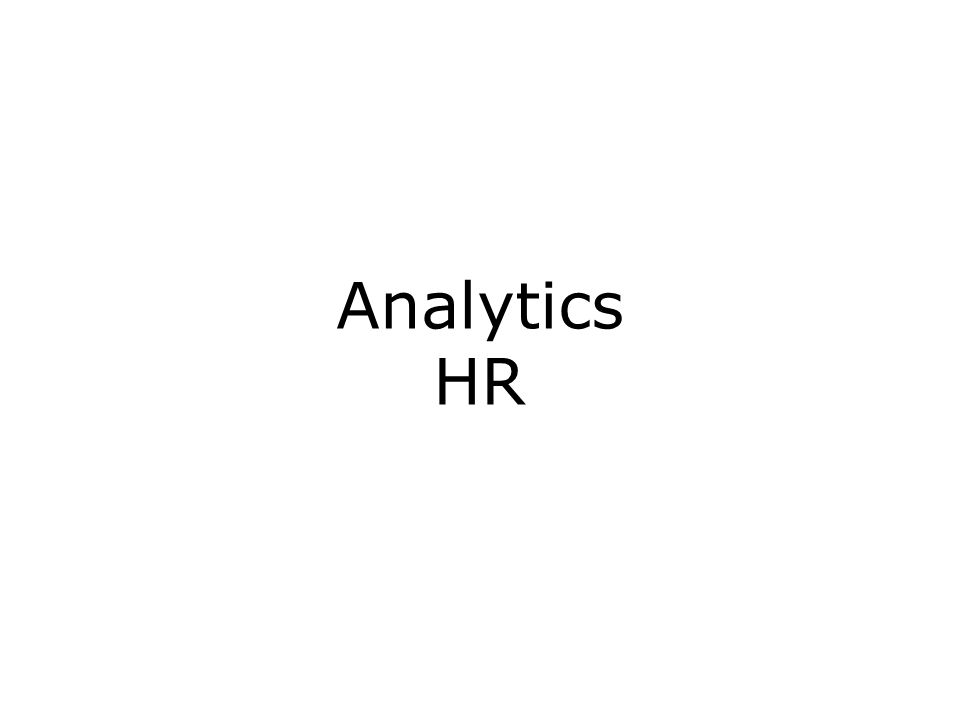 Analytics HR