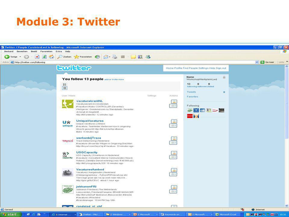 Module 3: Twitter
